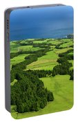 Typical Azores Islands Landscape Portable Battery Charger