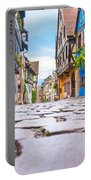 half-timbered houses, Riquewihr, Alsace, France   Portable Battery Charger