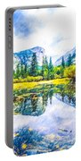 Typical View Of The Yosemite National Park Portable Battery Charger