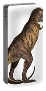 Tyrannosaurus Rex On White Portable Battery Charger