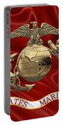 U. S.  Marine Corps - N C O Eagle Globe And Anchor Over Corps Flag Portable Battery Charger