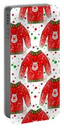 Ugly Christmas Sweater Pattern Portable Battery Charger