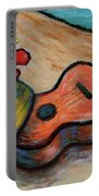 Ukulele And Hibiscus Flower On  A Hawaii Beach Portable Battery Charger