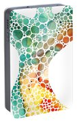 Ultra Modern Art - Colorforms 2 - Sharon Cummings Portable Battery Charger