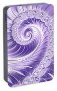 Ultra Violet Luxe Spiral Portable Battery Charger
