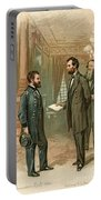 Ulysses S. Grant With Abraham Lincoln Portable Battery Charger