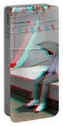Umbrella Man - Use Red-cyan 3d Glasses Portable Battery Charger