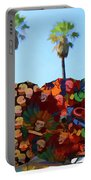 Umbrellas Day Of The Dead Paint  Portable Battery Charger