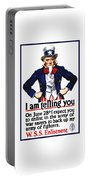 Uncle Sam -- I Am Telling You Portable Battery Charger