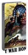 Uncle Sam - Buy War Bonds Portable Battery Charger by War Is Hell Store