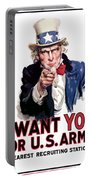 Uncle Sam -- I Want You Portable Battery Charger
