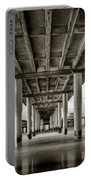 Under The Boardwalk Portable Battery Charger by Dave Bowman