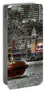 Under The Bridge Portable Battery Charger by Wayne Sherriff