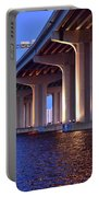 Under The Bridge With Lights 01175 Portable Battery Charger