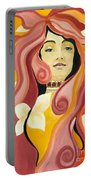Under The Influence Of Alphonse Mucha Portable Battery Charger