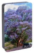 Under The Jacaranda Portable Battery Charger