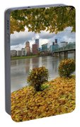 Under The Maple Tree In Portland Oregon During Fall Portable Battery Charger