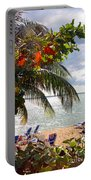Under The Palms In Puerto Rico Portable Battery Charger