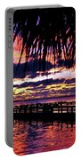 Under The Palms Sunrise Portable Battery Charger