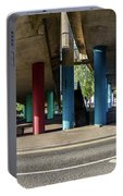 Under The Viaduct A Panoramic Urban View Portable Battery Charger
