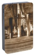 Under The Viaduct B Panoramic Urban View Portable Battery Charger