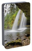 Under Upper Butte Creek Falls In Autumn Portable Battery Charger