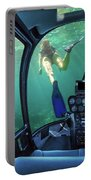 Underwater Ship In Coral Reef Portable Battery Charger