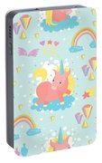 Unicorn And Rainbow Pattern Portable Battery Charger