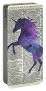 Unicorn In Space Portable Battery Charger