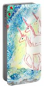 Unicorns Come Home Portable Battery Charger