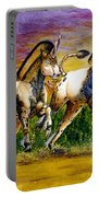 Unicorns In Sunset Portable Battery Charger