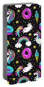 Unicorns Whimsical Pattern Portable Battery Charger