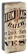 Union Pacific Railroad - Gateway To The West  1883 Portable Battery Charger