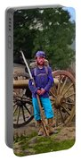 Union Soldier With Cannon Portable Battery Charger