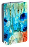 Unique Art - A Touch Of Red - Sharon Cummings Portable Battery Charger