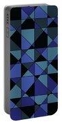 Unique Bold Hip Blue Cyan Grey Black Geometric Pattern Portable Battery Charger