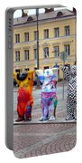 United Buddy Bear Statues At Helsinkis Senate Square Portable Battery Charger