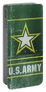 United States Army Logo On Green Steel Tank Portable Battery Charger