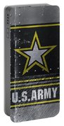 United States Army Logo On Steel Portable Battery Charger