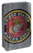 United States Marines Logo On Riveted Steel Portable Battery Charger