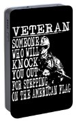 United States Proud Veteran American Portable Battery Charger