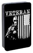 United States Veteran Flag And Soldier Portable Battery Charger