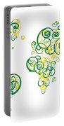 University Of Alberta Colors Swirl Map Of The World Atlas Portable Battery Charger