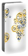 University Of California Berkeley Colors Swirl Map Of The World  Portable Battery Charger