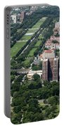 University Of Chicago Booth School Of Business And Midway Plaisance Park Aerial Photo Portable Battery Charger