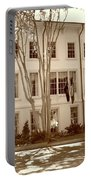 University Of South Carolina President's Residence In Sepia Tones Portable Battery Charger