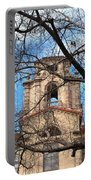 University Tower Mason Hall - Pomona College - Framed By Trees Portable Battery Charger