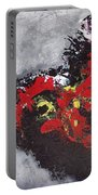 Unread Poem Black And Red Paintings Portable Battery Charger