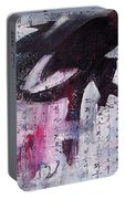 Unread Poem Black And White Paintings Portable Battery Charger
