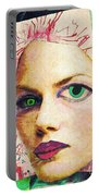 Unsettling Gaze Portable Battery Charger by Sarah Loft